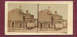 100320 - PHOTO STEREO A BERTRAND Rue Dauphiné PARIS - 1865 ITALIE PADOUE Basilique Sainte Justine De Padoue - Photos Stéréoscopiques