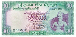 CEYLON P. 74b 10 R 1971 UNC - Sri Lanka