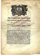 1755 APPROVISIONNEMENT PARIS EMBOUTEILLAGE BOIS FLOTTE CHARBON NAVIGATION SEINE  BATEAUX ET TRAINS DE BOIS - Historical Documents