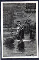 LES MISERABLES - Grand Dessin E. Bayard - COSETTE Balayant Devant La Maison Des Thénardiers - Victor Hugo 1880. - Zonder Classificatie