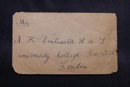 INDE - Enveloppe Pour Londres En 1909, Affranchissement En Bloc De 4 Au Verso - L 55368 - 1902-11 King Edward VII