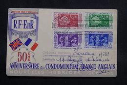 NOUVELLES HÉBRIDES - Enveloppe FDC En 1956 Pour La France - L 55369 - FDC