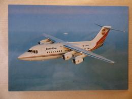 CONTI-FLUG    BA 146-200   D-AJET   /    AIRLINE ISSUE / CARTE COMPAGNIE - 1946-....: Moderne