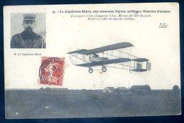 Cpa Aviateur Le Capitaine Etévé Sur Nouveau Biplan Militaire Maurice Farman    DEC19-24 - Airmen, Fliers