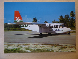 AIR SEYCHELLES   ISLANDER  S7-AAC   /    AIRLINE ISSUE / CARTE COMPAGNIE - 1946-....: Ere Moderne