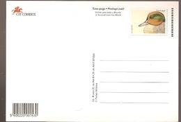 Portugal  ** & Postal Stationery, Marrequinha, Anas Crecca, Praça Do Comercio, Lisbon 1998 (1774) - Interi Postali