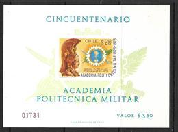 CHILI 1976 BLOC ACADEMIE POLYTECHNIQUE MILITAIRE YVERT N°B24  NEUF MNH** - Chili