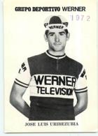 Jose Luis URIBEZUBIA . 2 Scans. Werner Television 1972 - Radsport