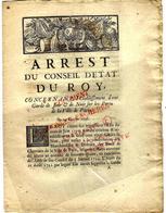 1736 PARIS HISTORIQUE Et MAL CONNU  APPROVISIONNEMENT PORTS ET CHANTIERS GARDES DE JOUR ET NUIT - Historical Documents