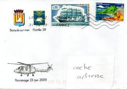 Parrainage De La Flottille 31F Par Banyuls Sur Mer Obl. La Poste 05505A 31/09/09 - Marcophilie (Lettres)