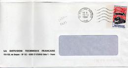 France N° 2450 Y. Et T. Loire St Etienne Montaud Flamme Ondulée Du 12/12/1986 Sur Lettre - Marcophilie (Lettres)