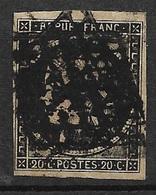 France  N°  3  Oblitéré   Grilles ! ! ! !     B/ TB ............ Soldé à Moins De 10 %  ! ! ! - 1849-1850 Cérès