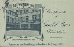 Entier Semeuse Lignée Rose 10ct Fond Vert Date 535 CP Privée The New Gambel Offices Paris Repiquage Commercial Cote 850€ - Overprinter Postcards (before 1995)