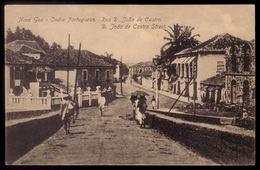 NOVA GOA India Portuguesa Rua D.Joao De Castro. Postal Ediçao Chistovam Fernandes. 1910 PORTUGAL COLONIAL - Indien