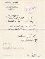 Ordonnace Obsolète Dr Valérant Bolbec 1959 Cachet Pharmacien Duflo - France