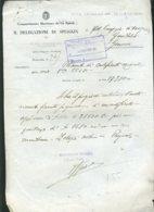 Fascismo Marina Navigazione Documento Riva Trigoso - Documenti Storici