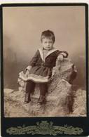 J64 - Photographie Originale - Un Beau Bébé Habillé En Marin - Anciennes (Av. 1900)