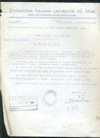 Fascismo Marina Navigazione Documento Civitavecchia - Documents Historiques