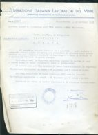 Fascismo Marina Navigazione Documento Civitavecchia - Historical Documents
