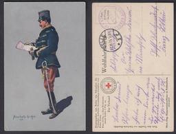 Ansichtskarte Rotes Kreuz Soldat Lüschwitz Kurettski 1915 Gestempelt Celle 1915 - Cartes Postales