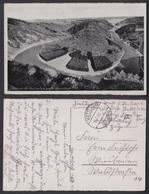Ansichtskarte Blick Von Der Cloef Auf Die Große Saarschleife Gestempelt Mettlach - Ansichtskarten