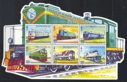 Mongolia 2017. Railway Transport. Locomotives Railway.   MNH - Mongolia