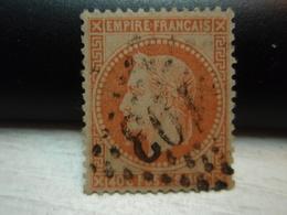 Timbre  Napoléon III Lauré  Empire Franc 40 C Oblitéré - Numéroté - Y&T 31. - 1863-1870 Napoléon III Lauré