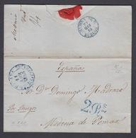 CARTA DE CUBA A MEDINA DE POMAR POR BURGOS (CUBA) 1855 - Cuba