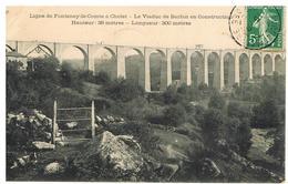CPA LIGNE DE FONTENAY-LE-COMTE à CHOLET LE VIADUC DE BARBIN EN CONSTRUCTION - Fontenay Le Comte