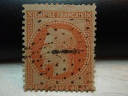 Timbre  Napoléon III Lauré  Empire Franc 40 C Oblitéré - Chiffre  Y&T 31. - 1863-1870 Napoléon III Lauré