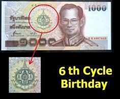 Thailand Banknote 1999 1000 Baht 6th Cycle 72nd Year HM King Rama 9 P#104 - Thailand