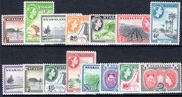 Nyasaland 1953-54 Set Lightly Mounted Mint. - Nyassaland (1907-1953)