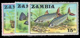 Zambia 1971 Fish Unmounted Mint. - Zambia (1965-...)