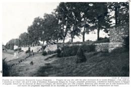 1929 : Photo, Belgique, Tongres, Partie De L'ancienne Enceinte Gallo-Romaine, Gaule-Belgique, L'Atuatuca Tungrogrum - Collections