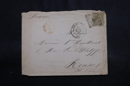 ESPAGNE - Enveloppe Pour La France En 1878, Affranchissement Plaisant - L 55399 - 1875-1882 Royaume: Alphonse XII