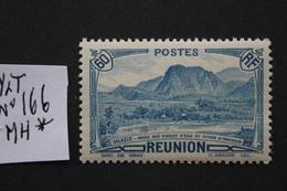 REUNION 1939 Y&T NO 166  60C BLEU (Salazié Mare Aux Poules D'eau Et Piton D'Anchain)..NEUF* TB .. - Réunion (1852-1975)