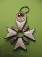 Croix De Médaille Ancienne  Incomplète/Sans Centre / Bronze émaillé/Origine à Déterminer/Belge ?Vers 1914- 1930   MED356 - Belgium