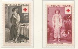 PIA - FRANCIA - 1956 - A Profitto Della Croce Rossa  - (Yv 1089-90) - Francia