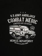T SHIRT Noir DODGE WC 54 AMBULANCE COMBAT MEDIC WW2 US ARMY MEDICAL Dpt TEE - Véhicules