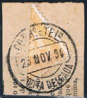 Ponta Delgada, 1892/3, # 1, Bipartido, Used - Ponta Delgada