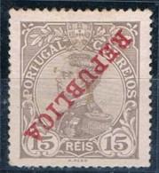 Portugal, 1910, # 173, Sobrecarga Invertida, MH - 1910 : D.Manuel II