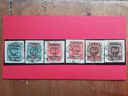 LITUANIA - Memel 1923 - Klaipeda - Francobolli Di Lituania Sovrastampati Nn. 95/100 Timbrati + Spese Postali - Lituania
