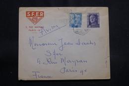 ESPAGNE - Enveloppe De Las Palma Pour La France En 1951, Affranchissement Plaisant - L 55409 - 1951-60 Cartas