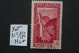 REUNION 1939 Y&T NO 172 1fr.60 CARMIN (Salazié Le Bras Des Demoiselles)..NEUF* TTB .. - Ungebraucht