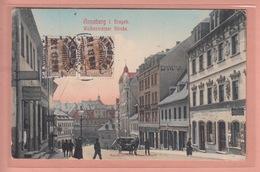 OLD POSTCARD -  GERMANY - DEUTSCHLAND - ANNABERG - WOLKENSTEINER STRASSE - Annaberg-Buchholz