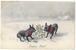 Illustrateur M. Munk M.M. Vienne Bouledogues Joyeux Noel ! N° 605 - Vienne