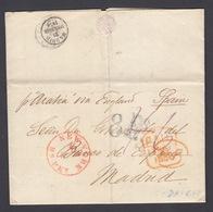 C00041 DE NEW YORK A MADRID 1856 - …-1845 Vorphilatelie