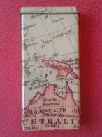 RARA LATA O ENVASE A IDENTIFICAR CON MAPA MAP CARTE...NORTH AUSTRALIA INDONESIA PAPUA..TABACO ?? CAN TIN CONTAINER...... - Latas