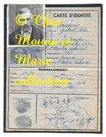 COUDERIC GABRIEL CULTIVATEUR 1892 ST MARTIN LABOUVAL CARTE D IDENTITE 1944 FISCAL 15 FRANCS - Documents Historiques