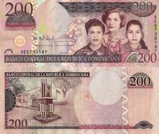 DOMINICAN REPUBLIC 200 Pesos Oro, 2007, P178, UNC - Dominicana